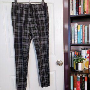 f21: black plaid leggings
